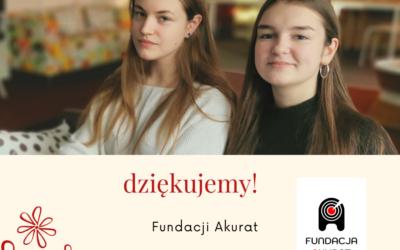 Fundacja AKURAT- DZIĘKUJEMY!