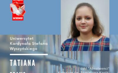 Gratulujemy! Tatiana po ukończeniu Liceum św. Stanisława Kostki w Warszawie będz…